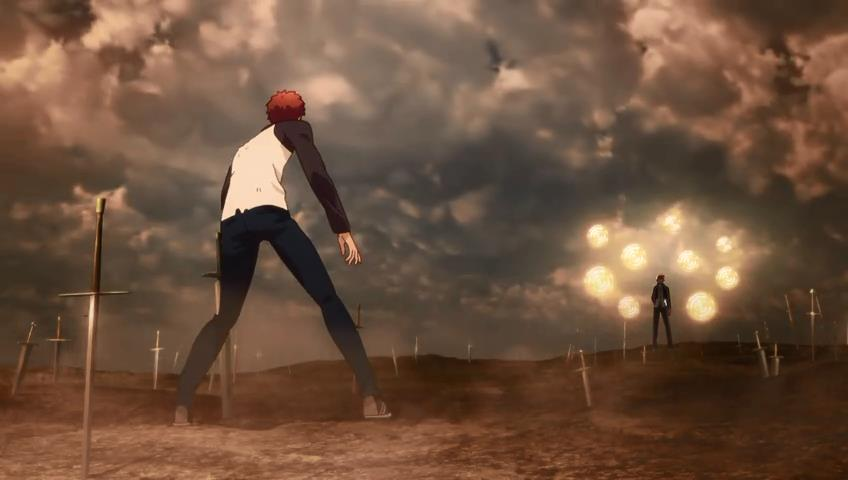 Fate/stay night: Unlimited Blade Works - Emiya Shirou vs Gilgamesh