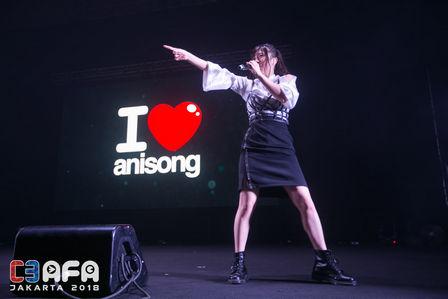 Konomi Suzuki di I Love Anisong Concert C3AFA 2018 Jakarta