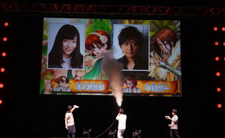 Kana Ichinose sebagai Yuzuriha Ogawa dan Yuuichi Nakamura sebagai Tsukasa Shihiro
